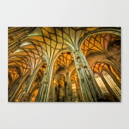 St Stephens Cathedral Vienna Art Canvas Print