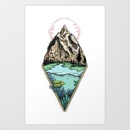 Simple origin Art Print
