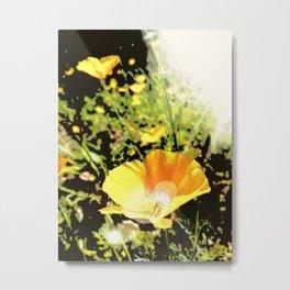 Hana Collection - California Poppy Metal Print