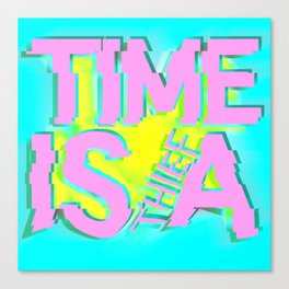 Glitch In Time: Thief Canvas Print