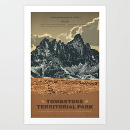 Tombstone Territorial Park Art Print