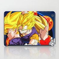 vegeta iPad Cases featuring DBZ - Goku, Vegeta and Vegeto by Mr. Stonebanks