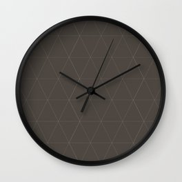 Classic | Brown Triangles Wall Clock