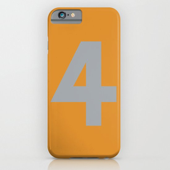Number 4 iPhone & iPod Case