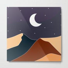 Mountain night Metal Print