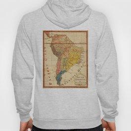 Vintage Map of South America (1816) Hoody