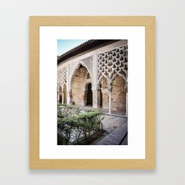 Patio Arches - Real Alcazar of Seville Framed Art Print