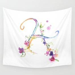 Letter A - Monogram Initial Wall Tapestry