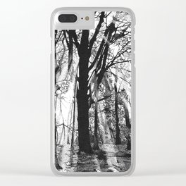 Pointillistic forest Clear iPhone Case