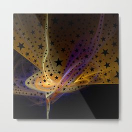 Ethereal Flame with Stars Metal Print