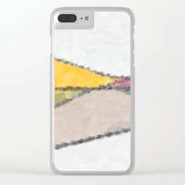 Stained Glass Landscape Clear iPhone Case