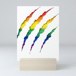 LGBT Ripped and Shredded Mini Art Print