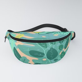Flora Nature Forest Tropical Fanny Pack