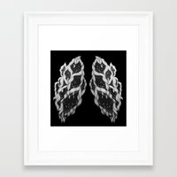 lungs Framed Art Prints featuring Lungs by Sushibird