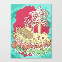 in the flesh Canvas Prints featuring Flesh illustration by ArDem