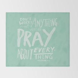 Dont Worry, Pray x Mint Throw Blanket