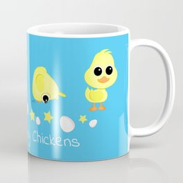 Chicks and Duckling Counting My Chickens Saying Coffee Mug