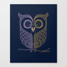 Tale of two birds  Canvas Print