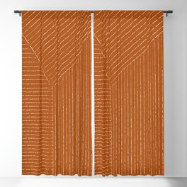 Lines (Rust) Blackout Curtain