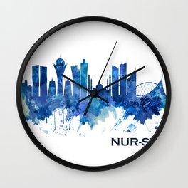 Nur-Sultan Kazakhstan Skyline Blue Wall Clock