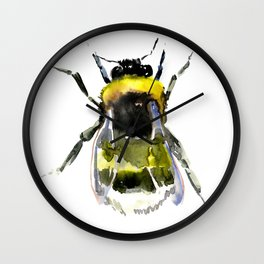 Bumblebee - bee artwork Wall Clock