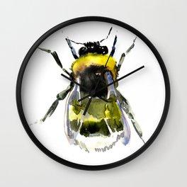 Bumblebee, bee artwork, bee design minimalist honey making design Wall Clock