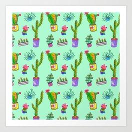 Cactus Day Art Print