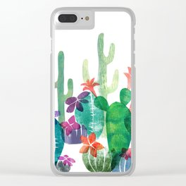 Blooming Desert Clear iPhone Case