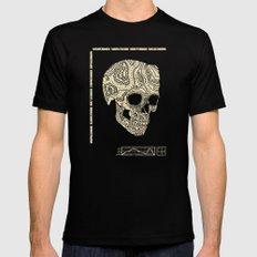 Skullography  Mens Fitted Tee MEDIUM Black
