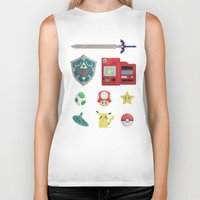 video games Biker Tanks featuring video games by Black