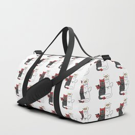 Angel & Demon Cats Duffle Bag