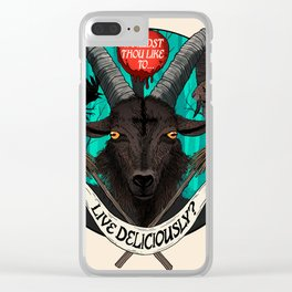 Live Deliciously Ram Clear iPhone Case