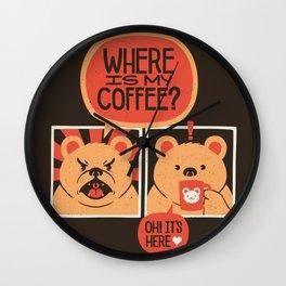Where is my Coffee Wall Clock