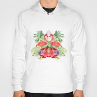 flamingo Hoodies featuring Flamingo by Kangarui by Rui Stalph