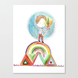Future boy Canvas Print