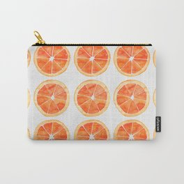Watercolor Orange Slices Carry-All Pouch