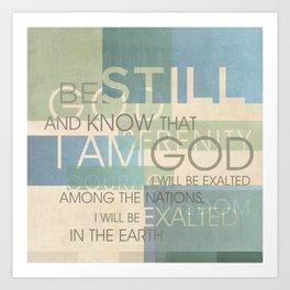 Psalm Scripture Collage Art Print