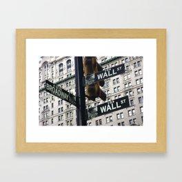 Concrete jungle where dreams are made of... Framed Art Print