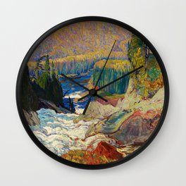 Falls Montreal River by James Edward Hervey MacDonald - Canada, Canadian Oil Painting Wall Clock