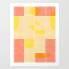 Retro Tiles 01 #society6 #pattern Art Print