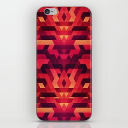 Abstract red geometric triangle texture pattern design (Digital Futrure - Hipster / Fashion) iPhone Skin