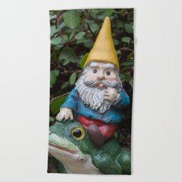 Adventure gnome Beach Towel