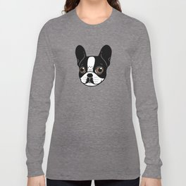 Double Hooded Pied French Bulldog Puppy Long Sleeve T-shirt