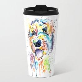 Goldendoodle - Doodle of. a doodle Travel Mug