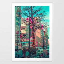 TOKYO CITY TREE Art Print