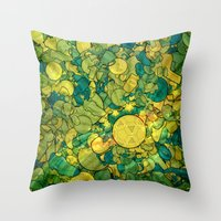 world cup Throw Pillows featuring World Cup by Guilherme Marconi