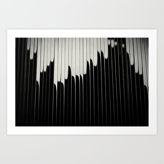 STEEL & MILK II. Art Print