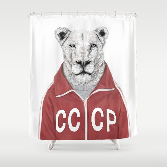 Soviet lion Shower Curtain