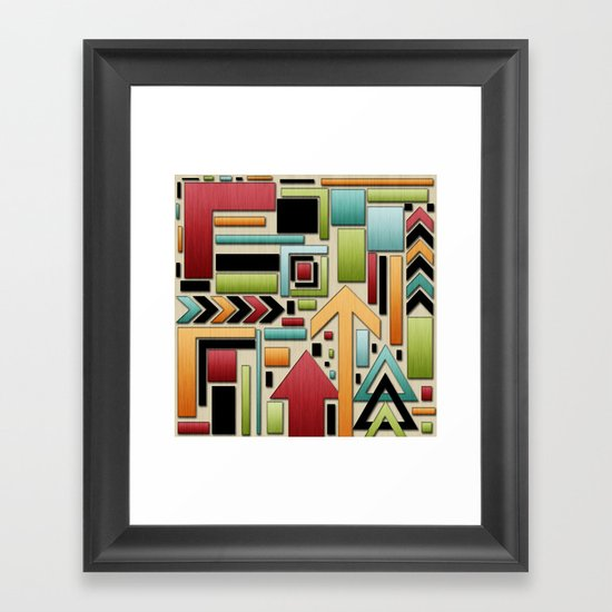 Retro Junk. Framed Art Print