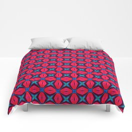 captivating kaleidoscope decorative blue and red Comforters
